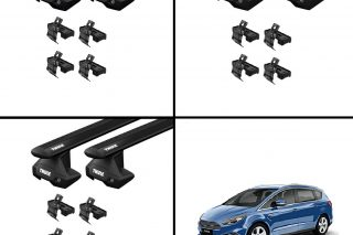 Menabo Tema Stählerne Dachträger Set für FORD S-Max II 2015 FIX026G/_A13
