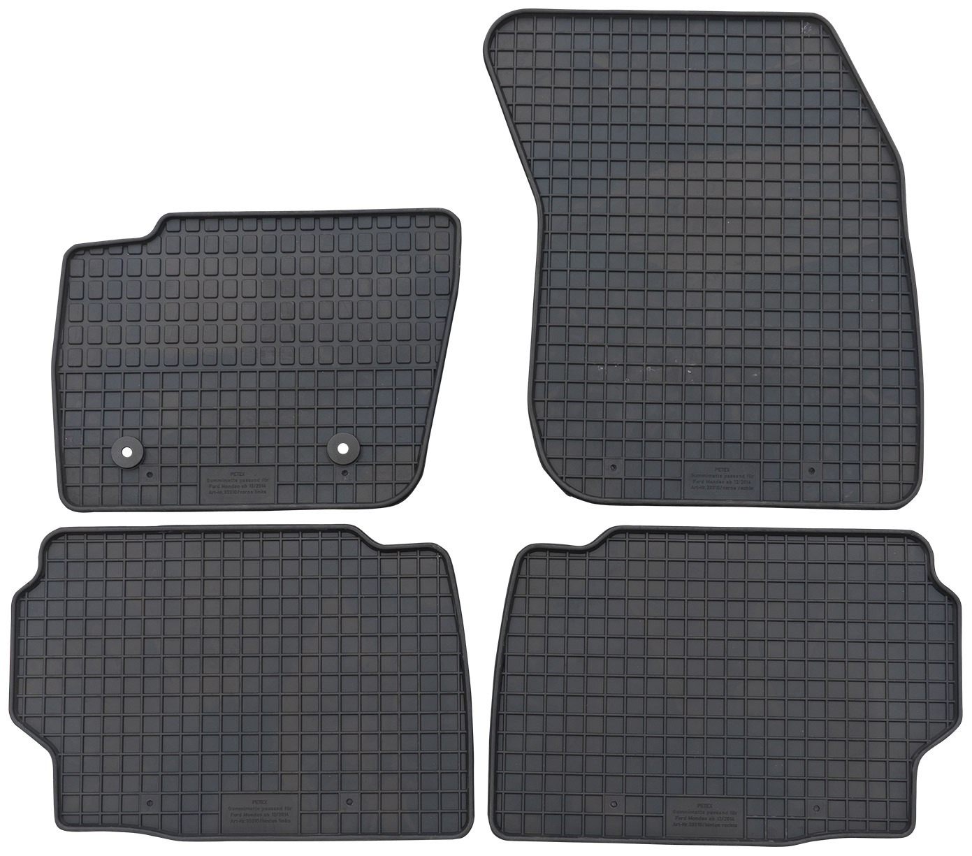 Fußmatten Gummimatten passend für FORD MONDEO MK5 ab 2014