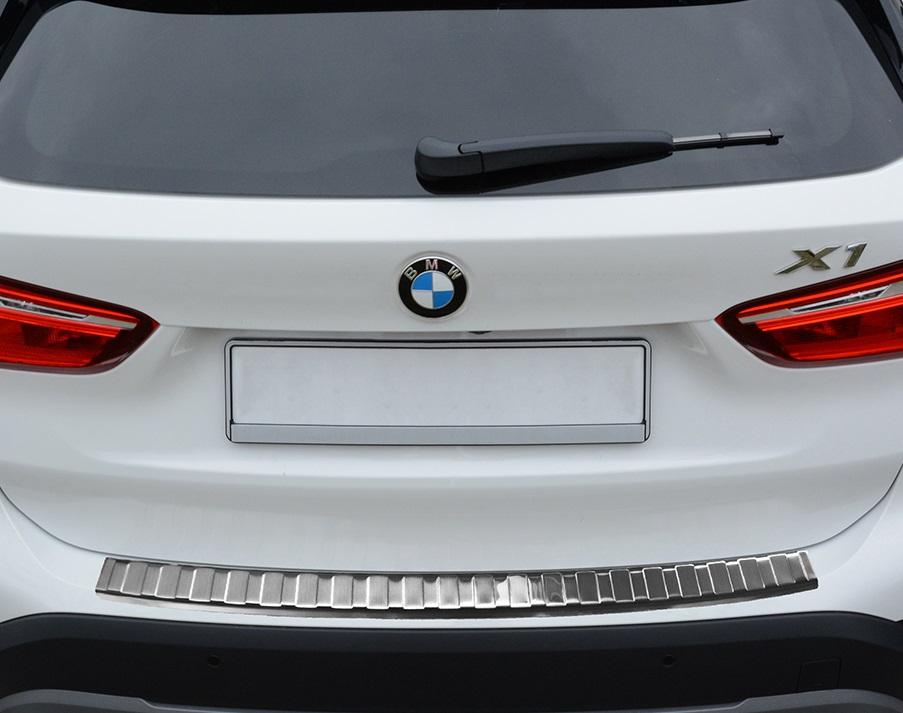 BMW X1 F48 Ladekantenschutz Matt Gebürset Edelstahl mit Abkantung