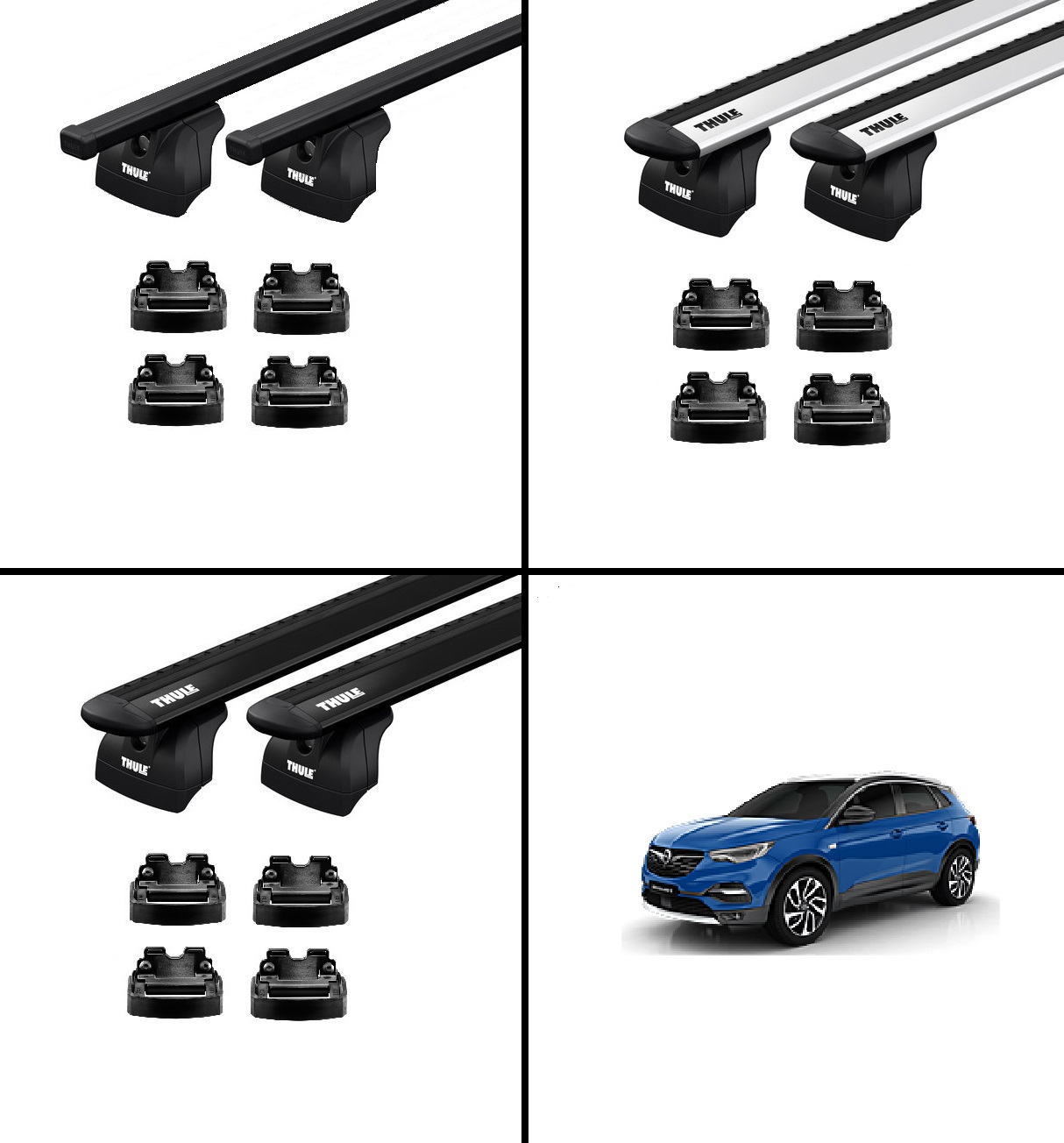 thule dachtr ger opel grandland x mit reling ab 2017 dioma. Black Bedroom Furniture Sets. Home Design Ideas